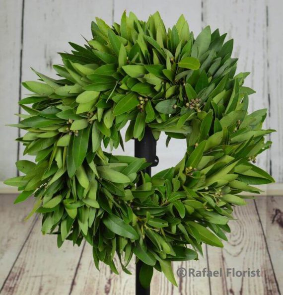 Country Bay Leaf Wreath W4 Rafael Florist Bay Leave Wreath Is